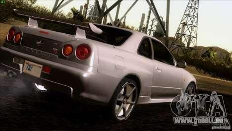 Nissan Skyline R34 Drift für GTA San Andreas rechten Ansicht