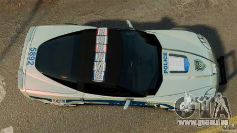Chevrolet Corvette ZR1 Police für GTA 4 rechte Ansicht