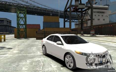 Acura TSX 2011 pour GTA 4 Vue arrière