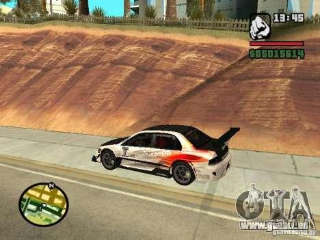 Mitsubishi Lancer Evo IX SpeedHunters Edition pour GTA San Andreas laissé vue