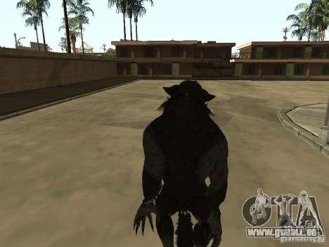 Werewolf from The Elder Scrolls 5 pour GTA San Andreas troisième écran