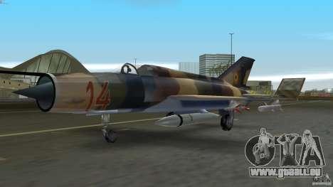 MiG 21 LanceR A pour une vue GTA Vice City de la gauche