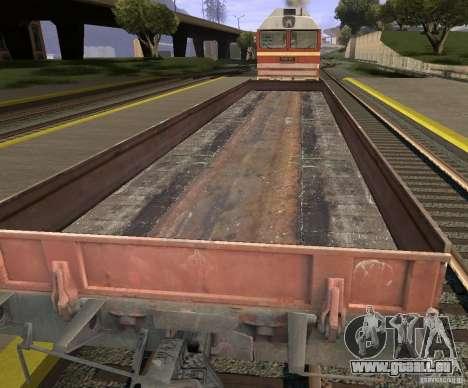 Wagon plat 44424539 pour GTA San Andreas sur la vue arrière gauche