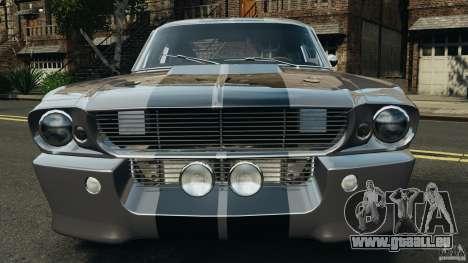 Shelby Mustang GT500 Eleanor 1967 v1.0 [EPM] pour GTA 4 est une vue de dessous