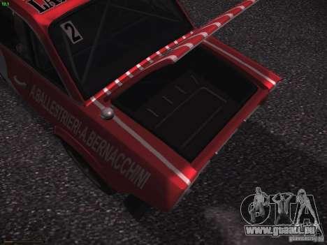Lancia Fulvia Rally Marlboro für GTA San Andreas Unteransicht