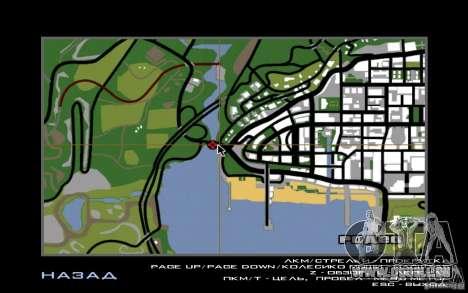 Route v1. 0 für GTA San Andreas her Screenshot