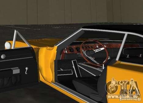 Dodge Charger RT 1969 für GTA Vice City Rückansicht