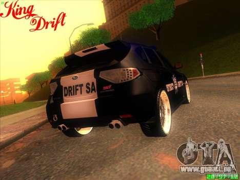Subaru Impreza WRX Police für GTA San Andreas Innenansicht