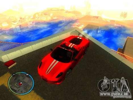 Ferrari F430 Scuderia M16 2008 pour GTA San Andreas vue de côté