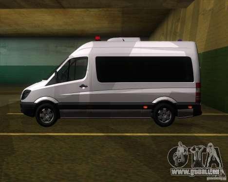 Mercedes-Benz Sprinter 311CDi pour GTA San Andreas laissé vue