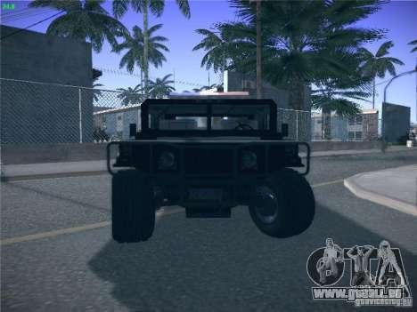 Hummer H1 1986 Police für GTA San Andreas obere Ansicht