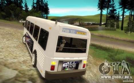 NFS Undercover Bus pour GTA San Andreas vue arrière