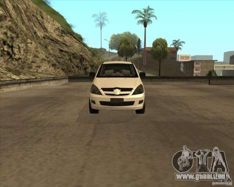 Toyota Innova pour GTA San Andreas vue intérieure
