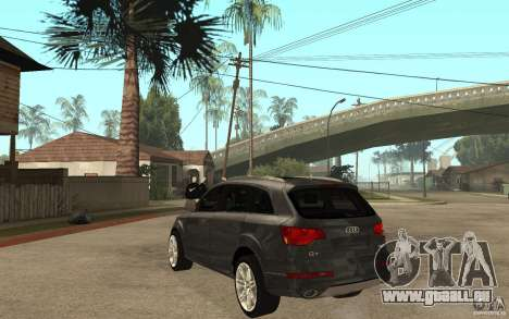 Audi Q7 TDI 2009 pour GTA San Andreas sur la vue arrière gauche