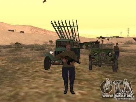 Officier soviétique BOB pour GTA San Andreas troisième écran