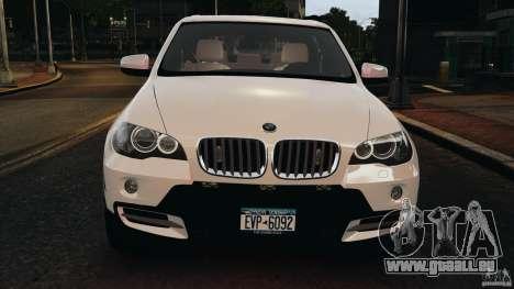 BMW X5 xDrive48i Security Plus pour GTA 4 est une vue de dessous
