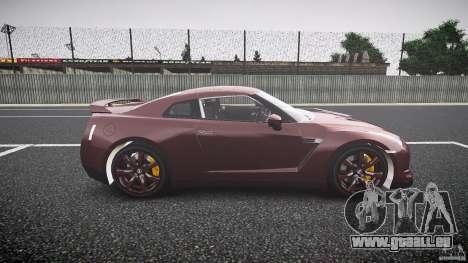 Nissan GT-R R35 2010 für GTA 4 Innenansicht