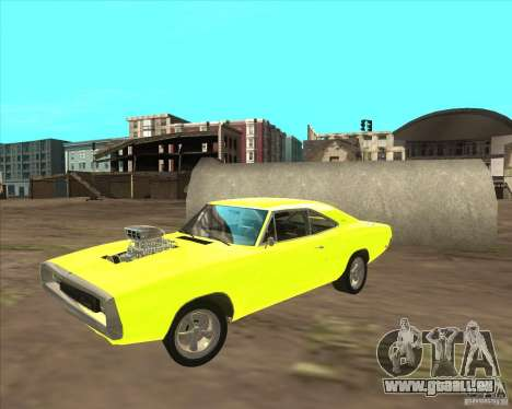 Dodge Charger RT 1970 The Fast and The Furious pour GTA San Andreas laissé vue