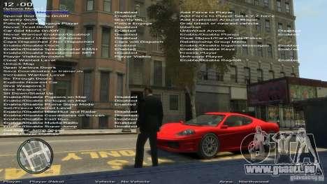 Einfache Trainer Version 6.2 für 1.0.1.0-1.0.0.4 für GTA 4 sechsten Screenshot