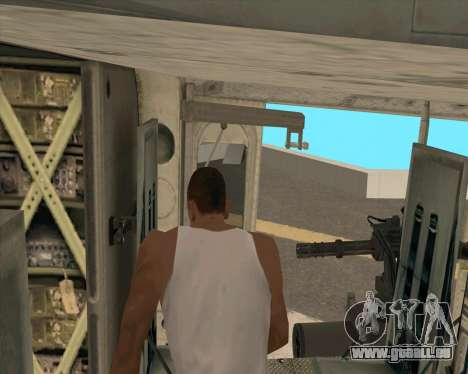 UH-1 Iroquois pour GTA San Andreas vue intérieure