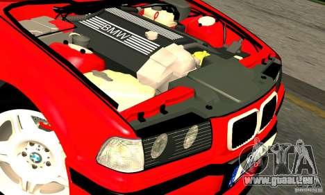 BMW M3 E36 pour GTA San Andreas vue de dessus
