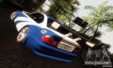 BMW M3 GTR v2.0 für GTA San Andreas Rückansicht