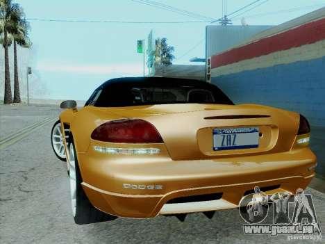 Dodge Viper SRT-10 Roadster pour GTA San Andreas vue intérieure