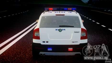 Skoda Octavia Scout NYPD [ELS] pour GTA 4 roues