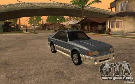 Ford Mustang GT 5.0 1993 pour GTA San Andreas vue arrière