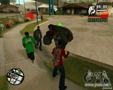 Réservoir de la Left 4 Dead. pour GTA San Andreas deuxième écran