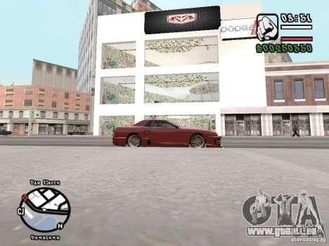 Dodge Salon pour GTA San Andreas troisième écran