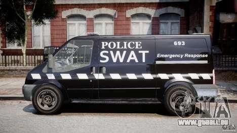 Ford Transit SWAT [ELS] pour GTA 4 est une gauche