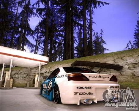 Nissan Silvia S15 Blue Tiger pour GTA San Andreas laissé vue