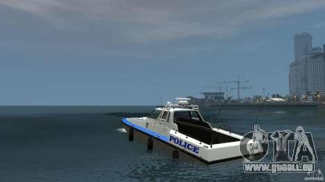 NYPD Predator pour GTA 4 Vue arrière de la gauche