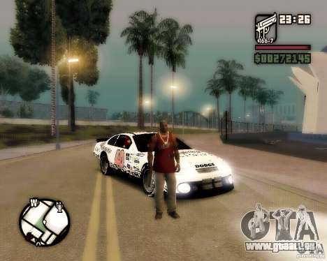 Dodge Nascar Beers Light 40 für GTA San Andreas rechten Ansicht