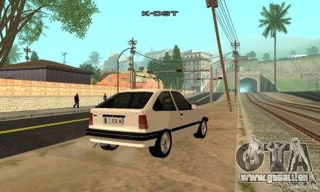 Opel Kadett E für GTA San Andreas zurück linke Ansicht