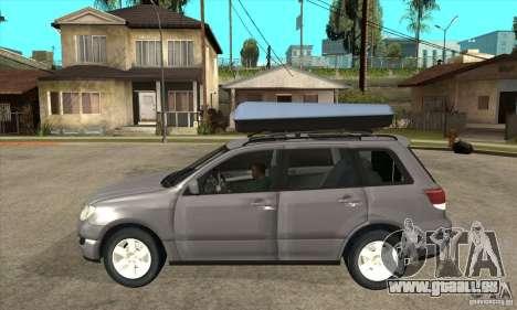 Mitsubishi Airtrek pour GTA San Andreas laissé vue