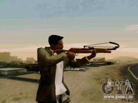 Une arbalète de travail avec des flèches pour GTA San Andreas deuxième écran