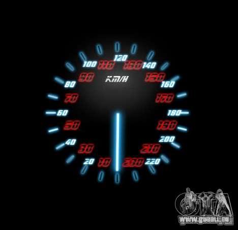 Neon Style Speedometr für GTA San Andreas dritten Screenshot