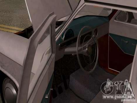 GAZ 21 Volga pour GTA San Andreas vue arrière
