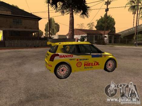 Suzuki Swift Rally für GTA San Andreas linke Ansicht