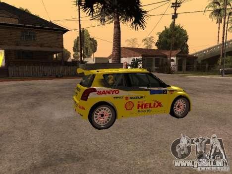 Suzuki Swift Rally für GTA San Andreas linke Ansicht