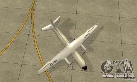 Antonow an-24 für GTA San Andreas Innenansicht