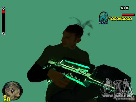 Blue weapons pack für GTA San Andreas her Screenshot