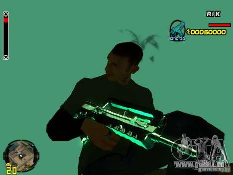 Blue weapons pack für GTA San Andreas her Screenshot