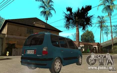 Renault Espace III 1999 für GTA San Andreas rechten Ansicht