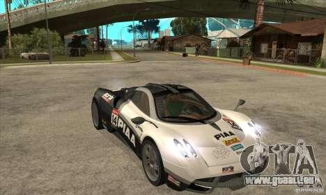 Pagani Huayra ver. 1.1 für GTA San Andreas Innenansicht