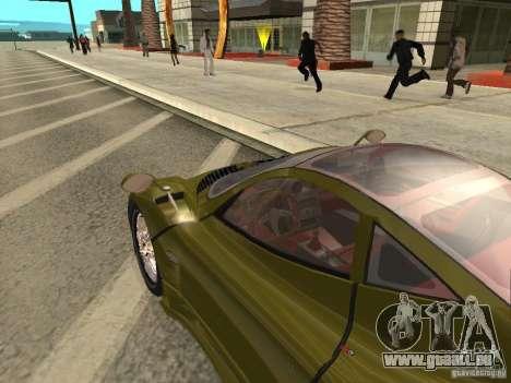 Pagani Zonda F pour GTA San Andreas vue arrière