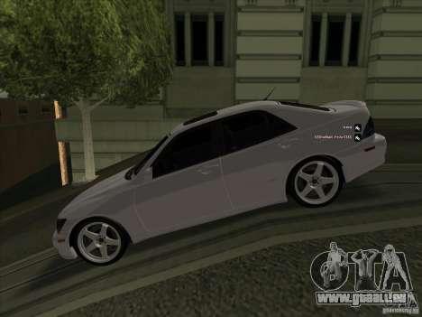 Lexus IS300 für GTA San Andreas linke Ansicht