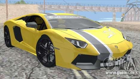 Lamborghini Aventador LP700-4 2012 pour GTA San Andreas moteur